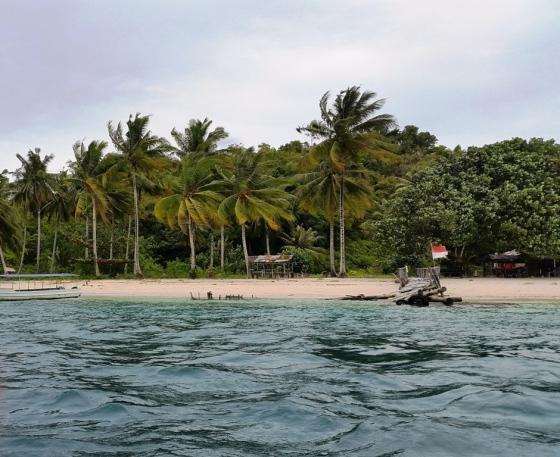 Pulau Pagang, from boat